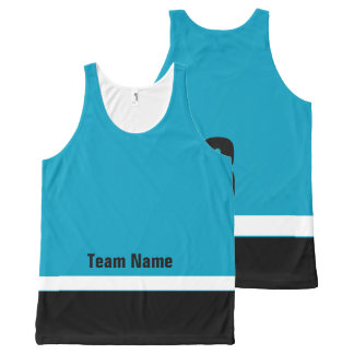 Personalized Ice Hockey Team Colors Tank Top