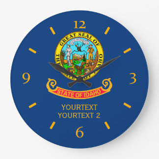 Personalized Idaho State Flag Design on Large Clock