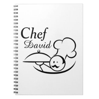 Personalized Illustrated Chef Notebooks