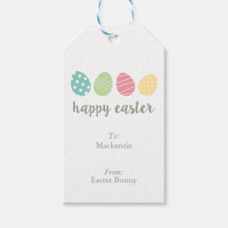 Personalized Illustrated Easter Egg Gift Tags