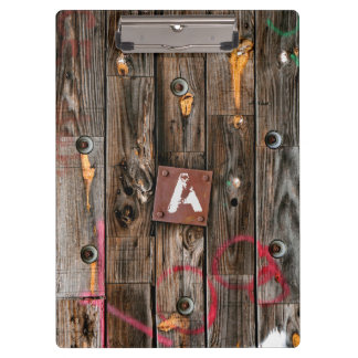 Personalized Industrial Rustic Wood Clipboard