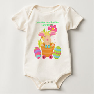 Personalized infant Easter bunny Baby Bodysuit