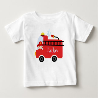 Personalized Infants Fire Engine T-Shirt
