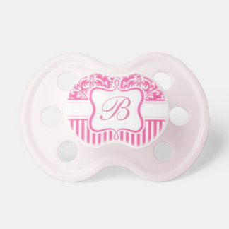 Personalized Initial & Font - Vintage Damask Pacifier