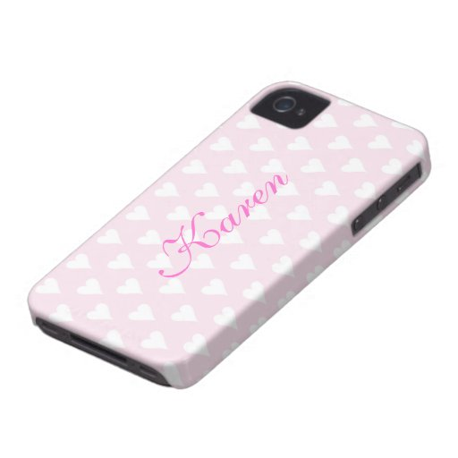 Personalized initial K girls name hearts pink cute Blackberry Bold Cover