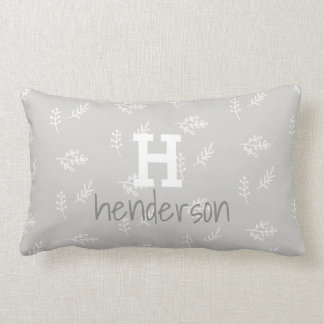 Personalized Initial Last Name Neutral Pillow