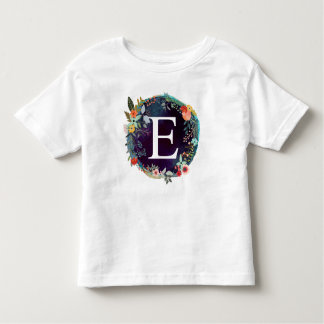 Personalized Initial Letter E Monogram T-Shirt