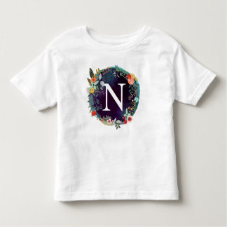 Personalized Initial Letter N Monogram T-Shirt