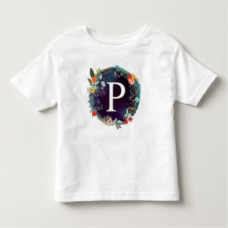 Personalized Initial Letter P Monogram T-Shirt