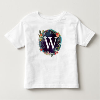 Personalized Initial Letter W Monogram T-Shirt