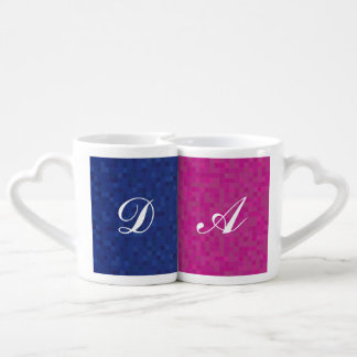 Personalized initial nest mugs for him and for her