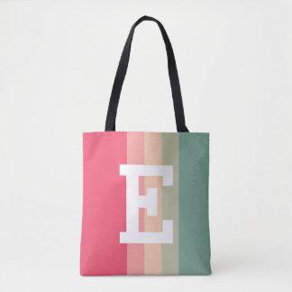 Personalized Initial Sugar Champagne Tote Bag