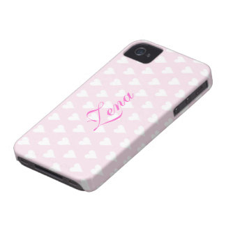 Personalized initial Z girls name hearts pink cute iPhone 4 Covers