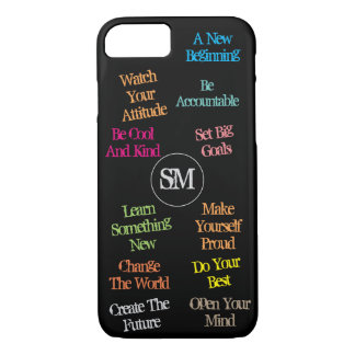 Personalized Initials Motivational Quotes - iPhone 7 Case