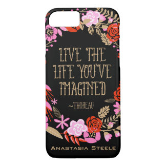 Personalized Inspiration Live Life Imagined Quote iPhone 7 Case