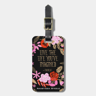 Personalized Inspiration Live Life Imagined Quote Luggage Tag