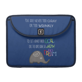 Personalized Inspirational 50plus Spiral Elephant Sleeve For MacBooks