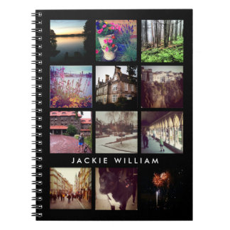 Personalized Instagram Photo Black Notebook