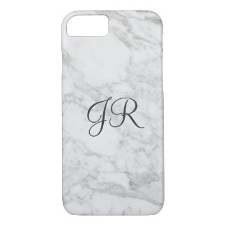 Personalized iPhone 7 case Monogram Modern Marble