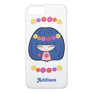 Personalized iPhone 7 Case With Cute Kawaii Girl