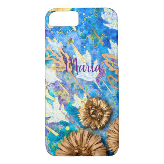 Personalized iPhone Case with Chrysanthemum Flower