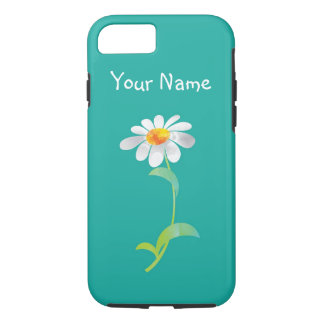 Personalized iPhone Case with Modern Daisy Flower