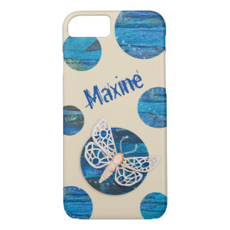 Personalized iPhone Case with Moths and Dots