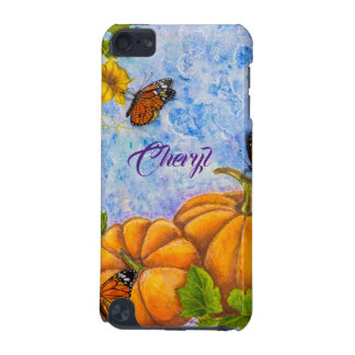Personalized iPod Case with Butterfly & Pumpkins