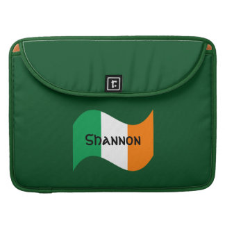 Personalized Irish Flag with Celtic Font Sleeve For MacBook Pro