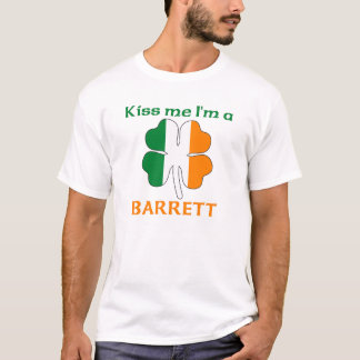 Personalized Irish Kiss Me I'm Barrett T-Shirt