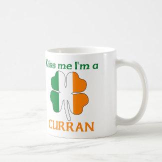 Personalized Irish Kiss Me I'm Curran Classic White Coffee Mug