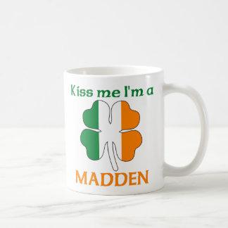 Personalized Irish Kiss Me I'm Madden Classic White Coffee Mug
