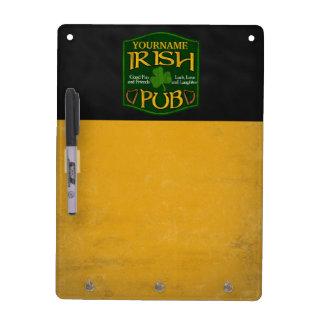 Personalized Irish Pub Menu/Drink Special Sign Dry-Erase Boards
