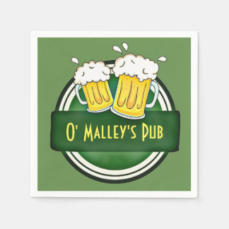 Personalized Irish Pub Paper Napkins