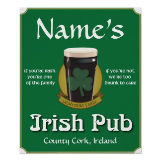 Personalized Irish Pub Print