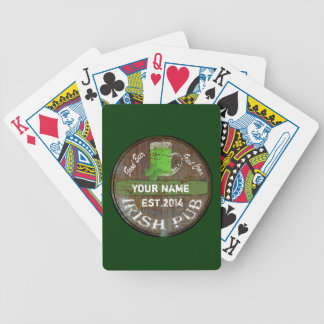 Personalized Irish pub sign Bicycle Playing Cards