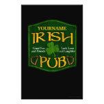 Personalized Irish Pub Sign Flyer Design