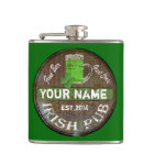 Personalized Irish Pub sign Hip Flask