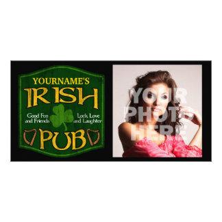 Personalized Irish Pub Sign Personalized Photo Card