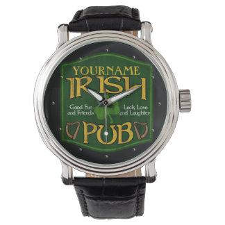 Personalized Irish Pub Sign Watch