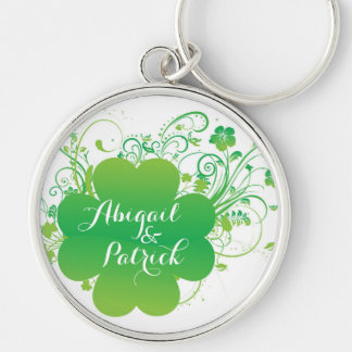 Personalized Irish Shamrock Keychain