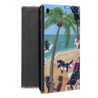 Personalized Island Summer Vacation Labradors case iPad Mini Cover