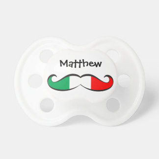 Personalized Italian Flag Mustache Pacifier