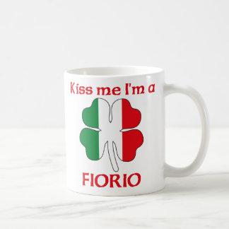 Personalized Italian Kiss Me I'm Fiorio Classic White Coffee Mug