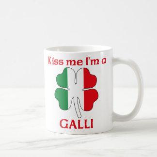 Personalized Italian Kiss Me I'm Galli Classic White Coffee Mug