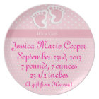 Personalized It's A Girl Plate
