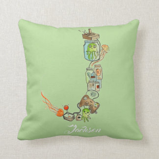 Personalized J is for _______ pillow