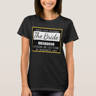 Personalized Jail Bachelorette Party Bride T-Shirt