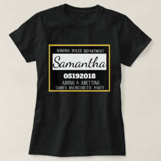 Personalized Jail Bachelorette Party Bridesmaid T-Shirt