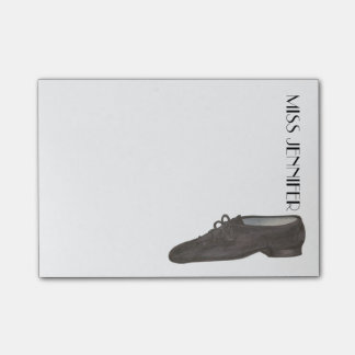 Personalized Jazz Shoe Dance Teacher Gift Post-Its Post-it Notes